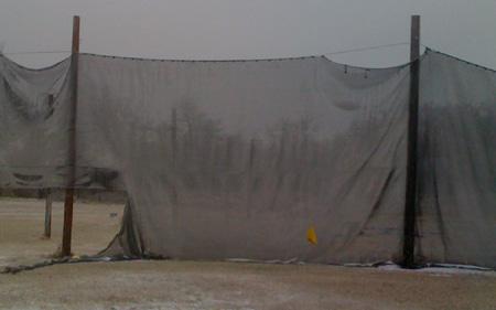 frozen paintball field